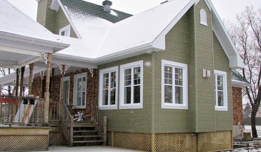 Projets et r alisations meunier construction for Construction annexe maison