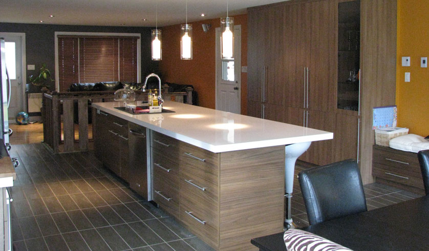 Expansion and renovation of a kitchen